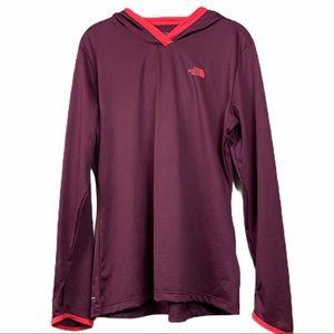 The north face burgundy maroon reactor hoodie